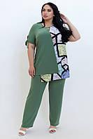Нарядный женский брючный костюм размеры 52-62, фото 1