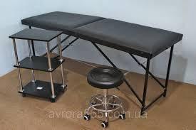 Кушетка Автомат + тележка косметологическая + стул мастера без спинки.N1