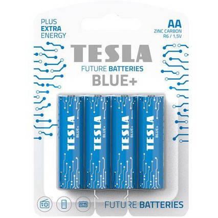 Батарейки TESLA AA BLUE+ (R06), 4 штуки