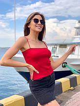 Жіноча кофтинка, бавовна, р-р універсальний 42-46 (червоний)