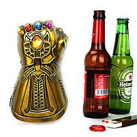 Открывалка для бутылок Перчатка бесконечности. Мини перчатка Таноса для бутылки. Открывашка для бутылок