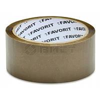 Стрічка клейка 48ммх66м, коричнева 10-580 Favorit // Лента клейкая, коричневая