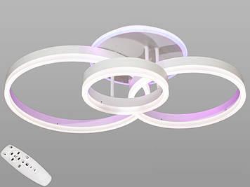 Люстра светодиодная  с диммером 90W Белый