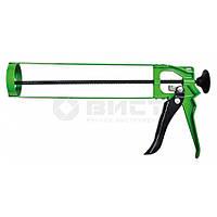 Пістолет для герметика скелетний металевий, зубчатий стрижень 12-010 Favorit // Пистолет для герметика