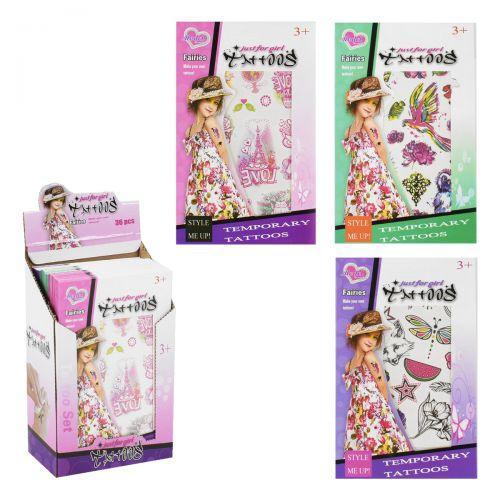 Набор тату для девочек Model Tattoo 8101-36