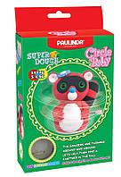 Маса для ліплення Єнот обертовий механізм червоний Paulinda Super Dough Circle Baby PL-081177-1