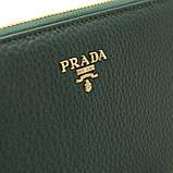 Зелений шкіряний жіночий гаманець 60019 класичний на блискавці з натуральної шкіри, фото 5