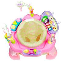 Ігровий розвиваючий центр Hola Toys Музичний стільчик, рожевий (696-Pink), фото 1
