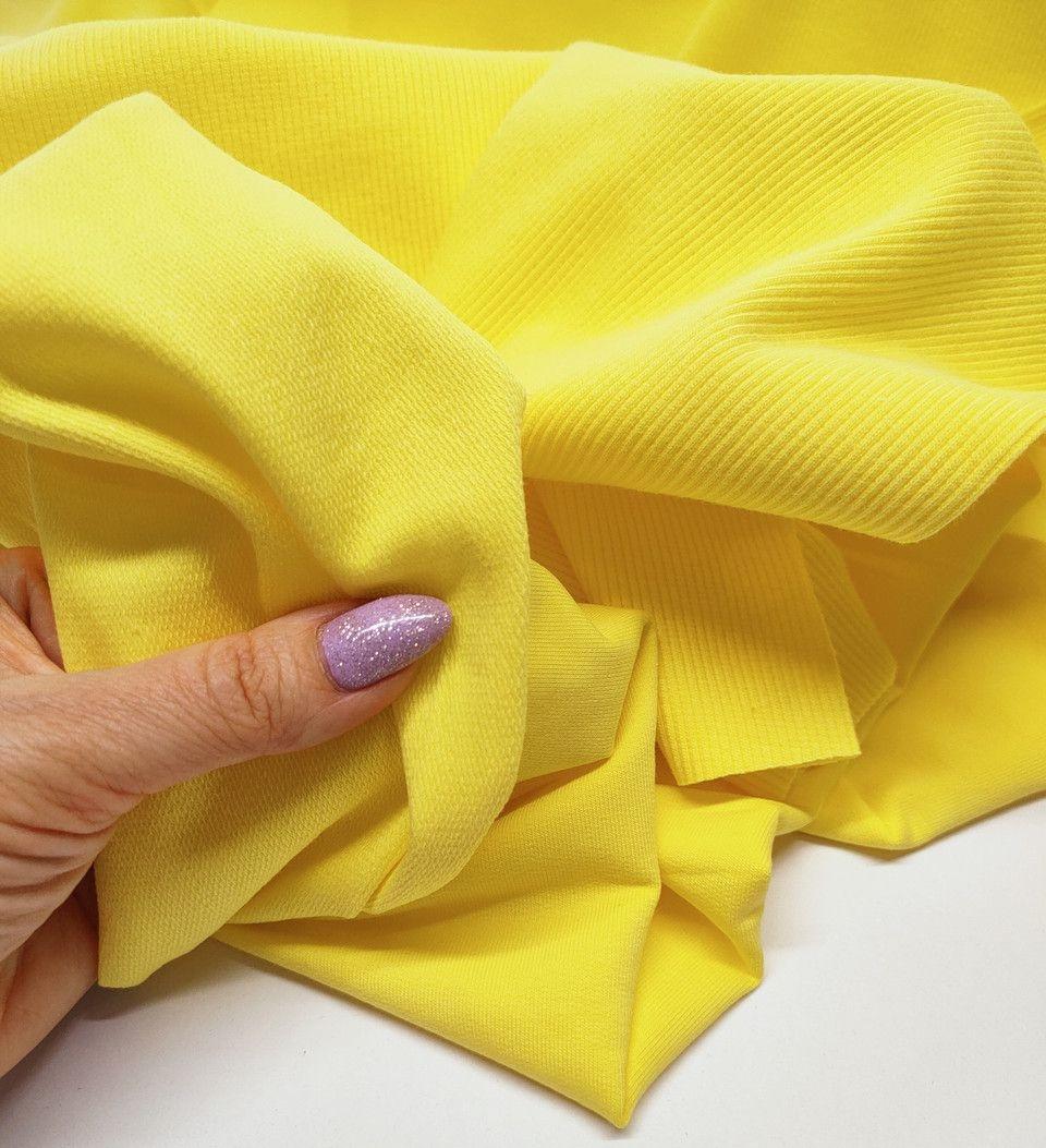 Футер двунітка жовта - 180см.