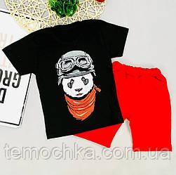 Летний комплект костюм детский c шортами и футболкой