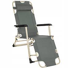 Шезлонг (кресло-лежак) для пляжа, террасы и сада Springos Zero Gravity GC0036