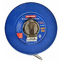 Стрічка вимірювальна, скловолокно, 50 м 15-353 Technics // Лента мерная, стекловолокно