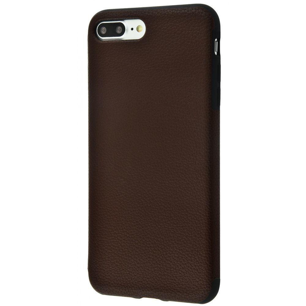Чехол Накладка под кожу Grainy Leather для iPhone 7 Plus/8 Plus brown