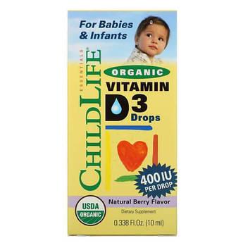 Витамин Д3, ChildLife Organic Vitamin D3 400 IU 10 мл