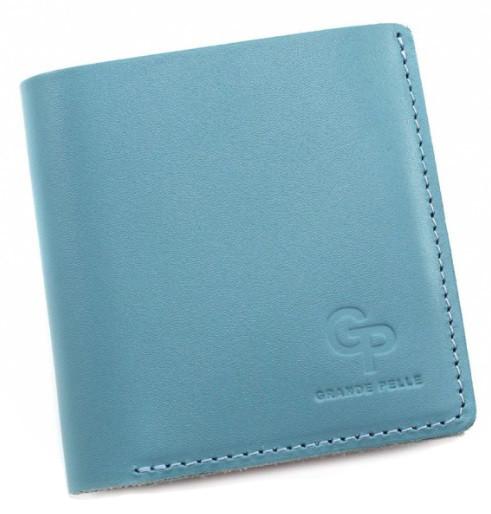 Жіночий бірюзовий гаманець Grande Pelle з монетницею, стильне портмоне на магніті
