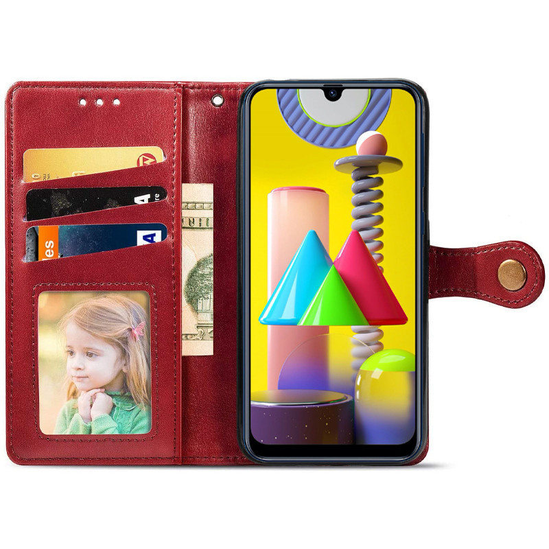 Чехол-книжка GETMAN Gallant для Samsung Galaxy M31 Кожаный Красный (35719)