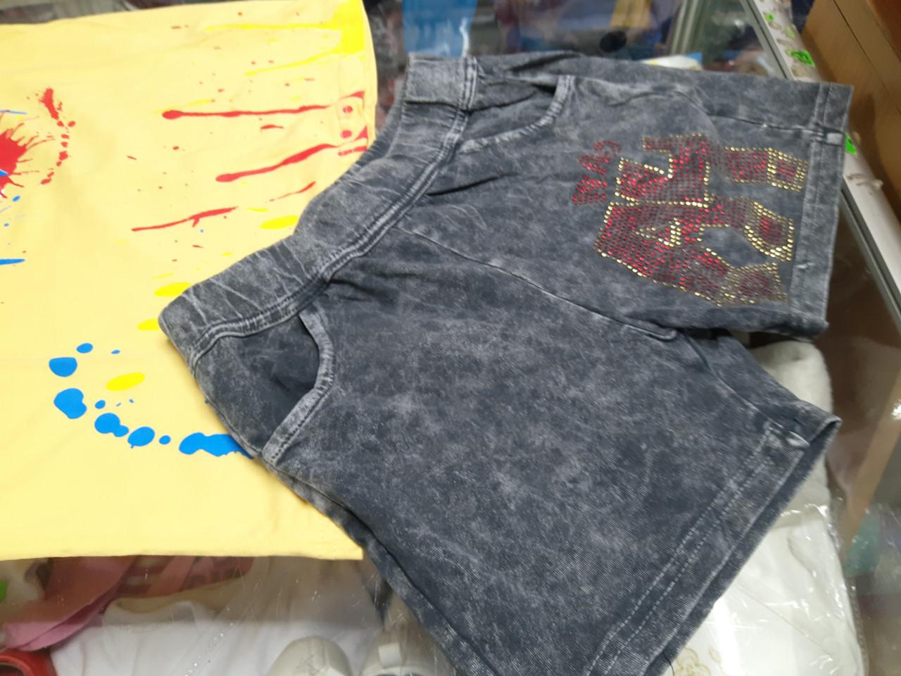 Літні джинсові шорти для дівчинки Влад А4 р. 110 - 164