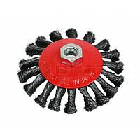 Щітка-крацовка кругова закручена 125 мм 18-212 SPITCE // Щетка-крацовка коническая, закрученная