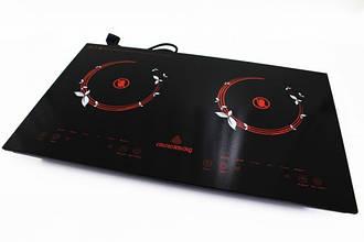 Інфрачервона електроплита на 2 конфорки CB-1330 Crownberg Плита електрична з керамічною поверхнею