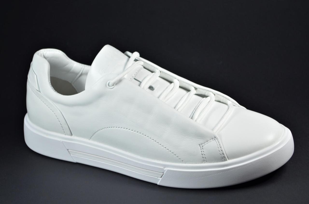 Чоловічі спортивні туфлі шкіряні кеди білі edge Ked 04