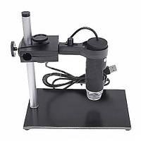 Портативный USB микроскоп цифровой Magnifier SuperZoom HQ 50-1000X с подставкой HandsKit