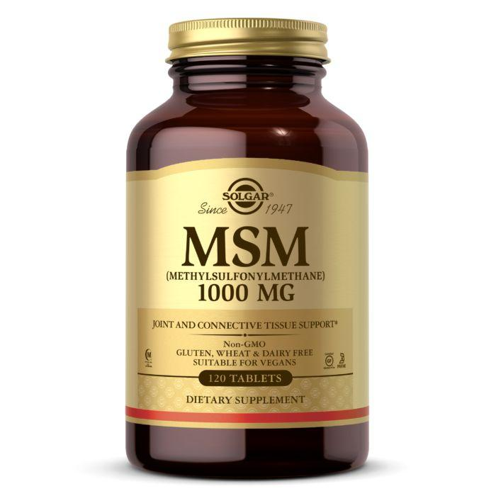 Для суглобів і зв'язок Solgar MSM 1000 mg, 120 таблеток