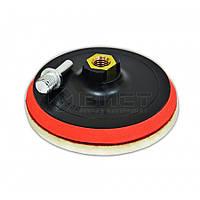 Диск з липучкою для дриля та УШМ, 150мм 18-998 SPITCE // Диск для дрели и УШМ, с липучкой