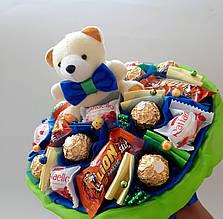 Букет из конфет и игрушки Джем вкусный подарок на день рождения ребенку / девушке / мальчику /девочке
