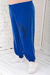 Жіночі штани на резинці великого розміру кольору електрик
