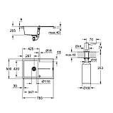 Набор Grohe мойка кухонная K400 31639AT0 + дозатор для моющего средства Contemporary 40536000, фото 2
