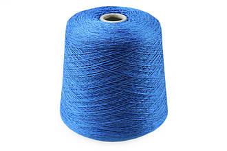 Лён с вискозой и хлопком, Голубой, ILARIA SRL GABICCE, 100гр/500м