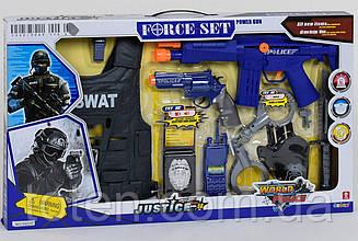 Поліції Набір ігровий. Бронежилет, автомат, пістолет, свисток, рація і тд. 34270