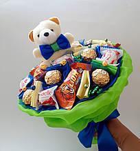 Букет из игрушек и конфет Джем вкусный подарок на день рождения ребенку / детский букет