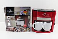 Кофеварка капельная на две чашки Kingberg КВ-1991(красная)