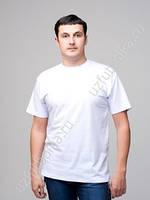 Мужская хлопчатобумажная футболка  белого  цвета