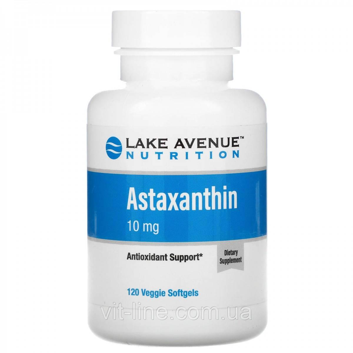 Lake Avenue Nutrition, астаксантин, 10 мг, 120 вегетарианских капсул