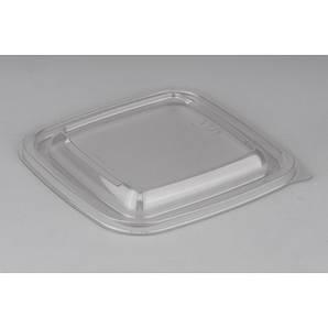 Крышка квадратная PP для контейнеров | Прозрачная 160*160*13мм