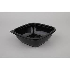 Контейнер квадратный PP 625мл | Черный 160*160*50мм