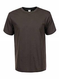 Чоловіча однотонна базова оливкова хакі футболка