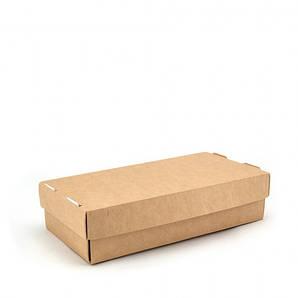 Коробка для суши и вторых блюд 1РЕ | Крафт 200*100*50мм