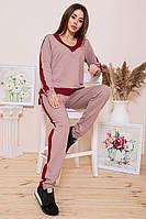 Спорт костюм женский 102R147 цвет мокко-бордовый