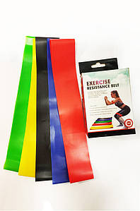 Набор резинок для фитнеса и спорта из 5 лент Еxercise resistance bands Exercise resistance bands 131852P