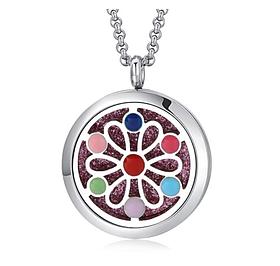 """Медальон для ароматерапии """"7 Цветов""""с блоттером."""
