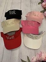 """Козирок-кепка жіночий, DIOR р-ри 56-59см (мікс кольорів) """"SCARLETT"""" купити недорого від прямого постачальника"""