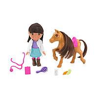 Игровой набор Даша путешественница с пони Fisher-Price Dora The Explorer Pony Vet Adventure Даша с пони
