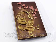 Пластиковая форма для шоколада Плитка Счастливый Кролик