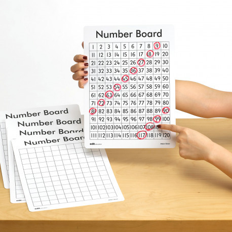 Многоразовый лист с числами от 1 до 120 EDX Education