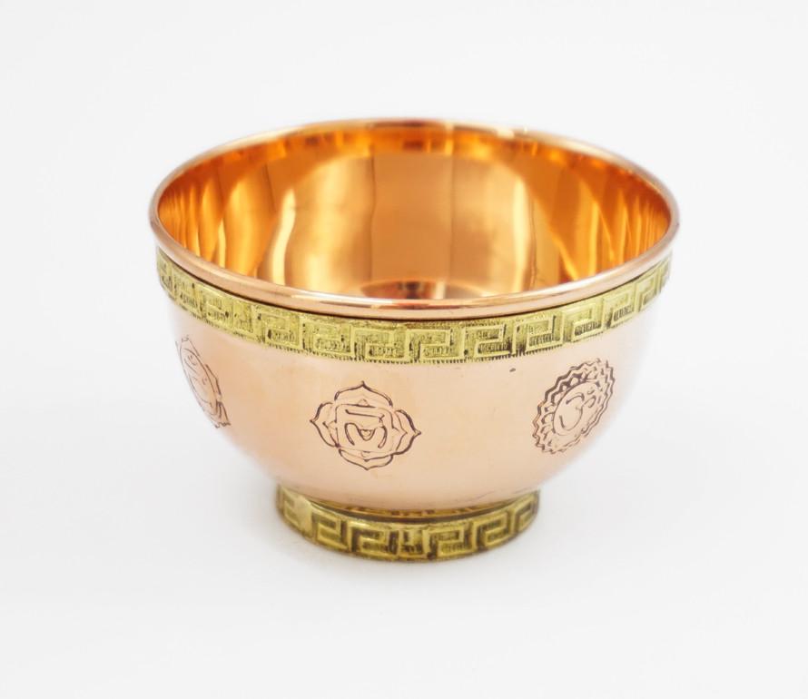 "9070335 мідна Чаша ритуальна ""7 чакр"" CG-21"