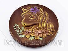 Пластиковая форма для шоколада Медаль Единорог