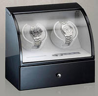 Шкатулка для автоподзавода 2-х часов Rothenschild RS-322-2-B с LCD дисплеем